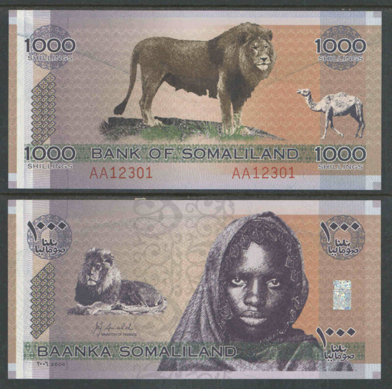 SOMALILAND 2006 1000 Shillings Currency UNCIRCULATED