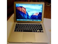 Macbook Air 2011-2012 Apple laptop Intel Core i5 processor on latest EL Capitain 10.11 OS