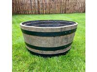 Oak Half Whisky Barrel Garden Tubs Planters - FREE Delivery 🚚