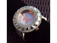 NEW Women's Zircon Rhinestone & butterfly watch