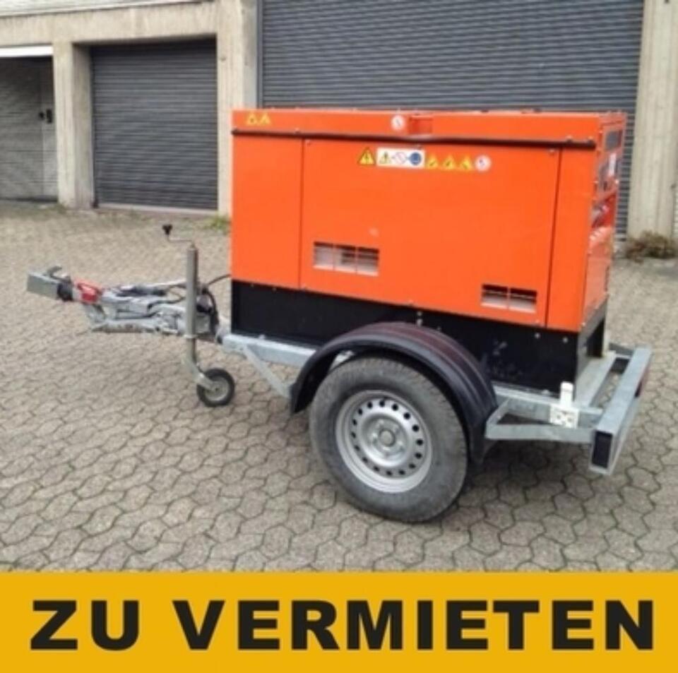 Stromgenerator 20 KVA  auf Anhänger mit Straßenzul.- Zu VERMIETEN in Dinslaken