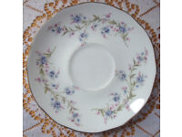 Vintage Duchess Tranquility Forget-Me-Not bone china saucer