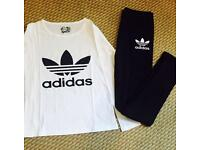 Adidas top leggings outfit
