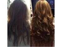 MICRO RING HAIR EXTENSIONS // £250 FULL HEAD 18 INCH // DOUBLE DRAWN BRAZILLIAN GOLD HUMAN REMY //