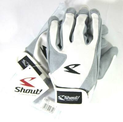 Shout 15-JG Gloves Jigging Short Fine Mesh White Size 3L (5833)