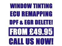 ** SAMEDAY SERVICE ** CAR WINDOW TINTING \ ECU REMAPPING \ DPF & EGR DELETE