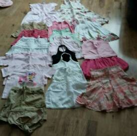 Girls large summer bundle age 4 & 4-5 yrs