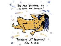 The Art Evening at DSFL (Life drawing & Lino Printing)