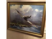Spitfire framed picture for sale