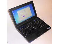 "Dell Latitude 2120 laptop. Windows 7, WiFi, Bluetooth, 10.1"" screen, Intel Atom CPU. Cheap laptop."