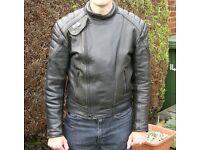 Leather motorcycling Jacket
