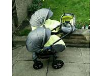 Zipy Pram Buggy Stroller Pushchair 3in1