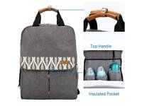 Lekebaby Nappy Backpack Bag For Mom With Changing Pad And Stroller Straps