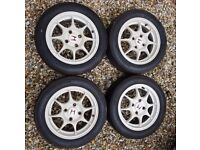 "HONDA INTEGRA TYPE R DC2 96 SPEC 15"" Alloy Wheels 4x114 White Genuine OEM JDM"