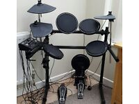 Gear4Music electronic drum kit supplied with stool and music stand - good condition