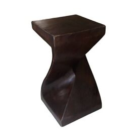 Beautiful Contemprary Oriental Lamp or Side Table Dark Wood Finish