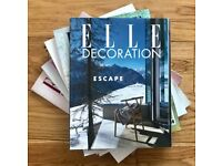 Job lot of 124 copies of ELLE Decoration from 2004 onwards in immaculate condition