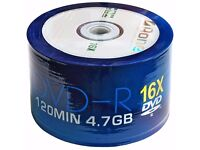 x8 packs of A-ONE DVD-R Recordable DVD Discs - 400 In Total (8x 50packs) Cash On Collection -Walsall