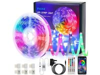 NEW TVLIVE RGB LED Strip Lights 5M(16.4ft), with 40 Keys Remote and APP Control, Music Sync