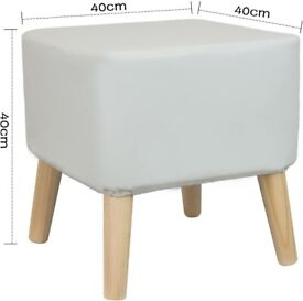 BRAND NEW IN BOX HIGH QUALITY LARGE FOOTSTOOL OTTOMAN SEAT POUFFE REMOVABLE COVER