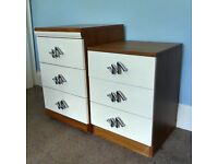 Two Separate Chest of Drawers / Bedside Cabinets both with three drawers