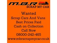 MBR Scrap My Car - Instant Payment - Sameday collection - Free To Call