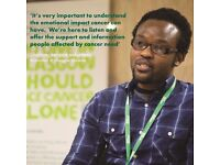 Volunteer supporting anyone affected by cancer with Macmillan @ Glasgow Libraries