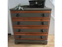 Lovely Chest of Drawers Solid Wood Shabby Chic Look (Rosedale Ducal)