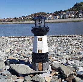 LED Powered Lighthouse Garden Ornament