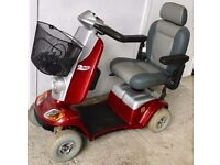 Medium size pavement mobility scooter - Red Kymco Midi XL full suspension 8mph