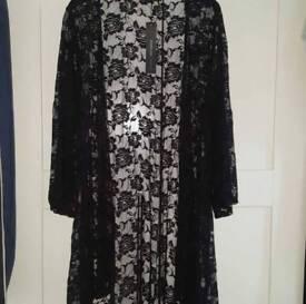 Black Summer lace kimono size 16/18
