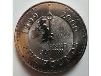 Five Pound Coin - 1999, 2000