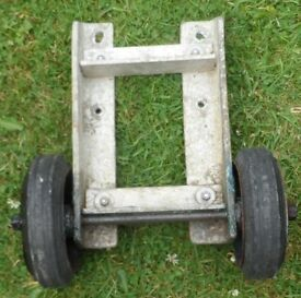 Wheeled Bracket for Bow or Stern of Boat Dinghy Tender for ease of moving