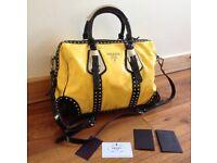 Authentic PRADA Leather Handbag with certificate