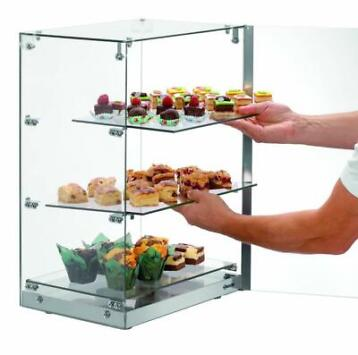 Vitrine de Buffet | 3 Etages | Porte Verrouillable | 405x335