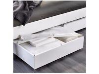 Vardo IKEA white bed storage box