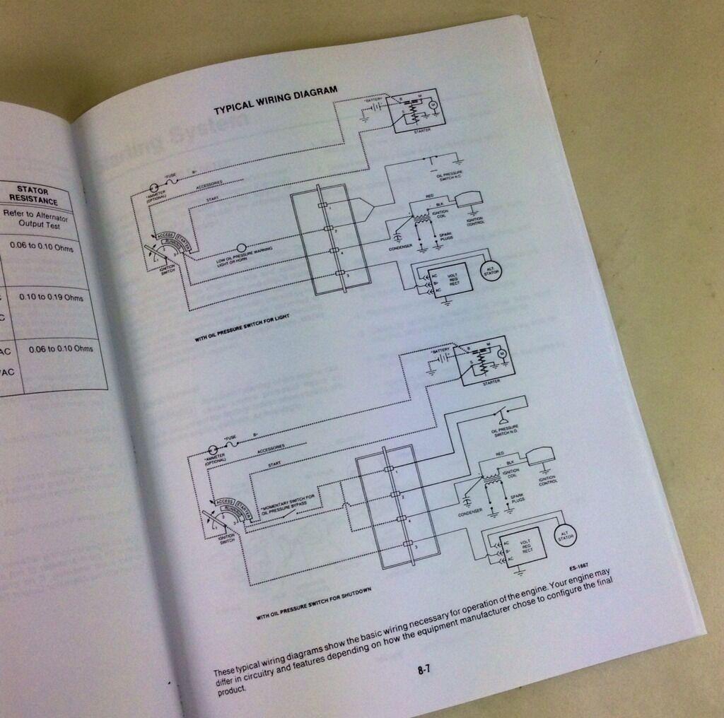 MILLER BOBCAT 225 225G Welder Generator Onan Engine Service Manual ...