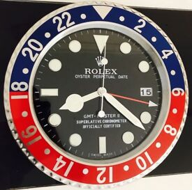 Rolex submariner wall clock brand new boxed various colours available