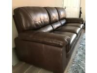 More of a 4 seater super quality leather sofa!