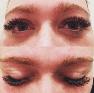 Eyelash extensions special Classic full set $50 Russian volume $90