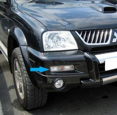 Clear front bumper Side+Indicator light right hand Mitsubishi L200 lamp offside