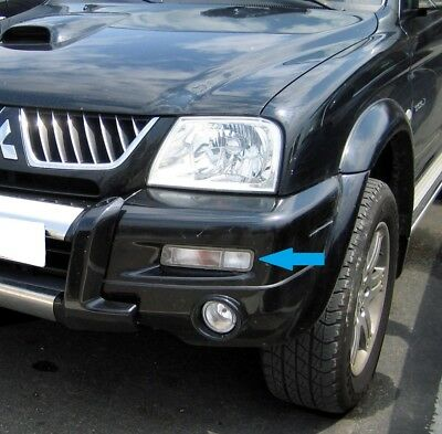 Clear front  bumper Side+Indicator light for Mitsubishi L200 lamp flasher lens