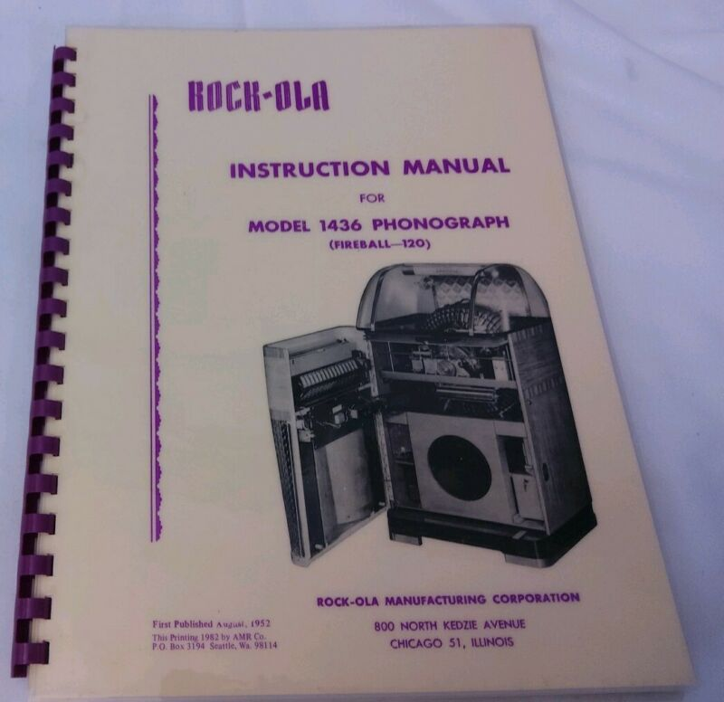 Rock-Ola 1436 Jukebox Manual (AMR Deluxe Book) Instructions, Service & Parts