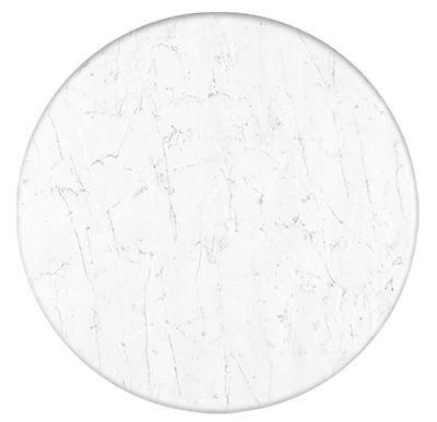 Runde Marmor (Tischplatte Werzalit 80 cm rund marmor bianco wetterfest Ersatztischplatte  070)
