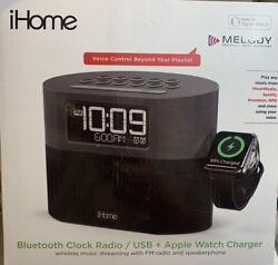 Ihome Iwbt400 Bluetooth Dual Alarm Fm Clock Radio With Speakerphone, Apple Watch