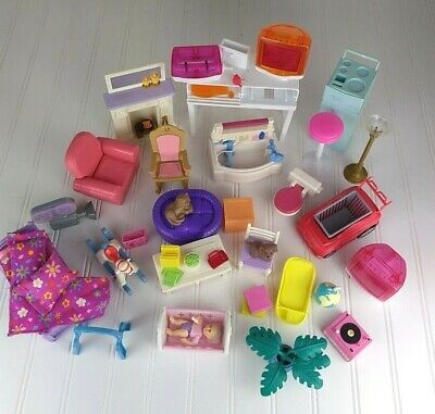 Large Lot Of Mattel Barbie Furniture And Accessories 30+ Items