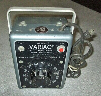 General Radio Variac W10mt Autotransformer