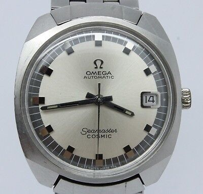 VINTAGE Omega Seamaster Cosmic Mens Automatic Steel Watch Date Bracelet 166.022