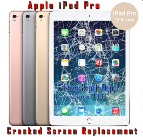 Apple iPad Pro 12.9 1st Cracked LCD Touch Screen Digitizer  Replacement WHITE