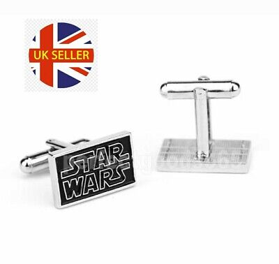 NEW Star Wars Logo Cufflinks Novelty Gift Jedi Mens Shirt Superhero 🇬🇧